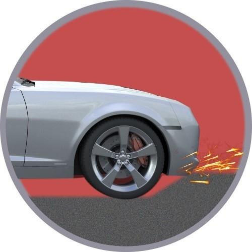 Car Scrapes On Driveway