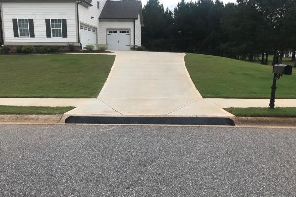 steep driveway curb ramp