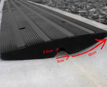 driveway curb ramps with drainage channel