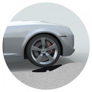 Curb Ramp For Better Car Ground Clearance